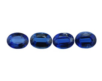 0.60 Ct Natural Blue Kyanite Gemstone Faceted Oval 6x4 mm