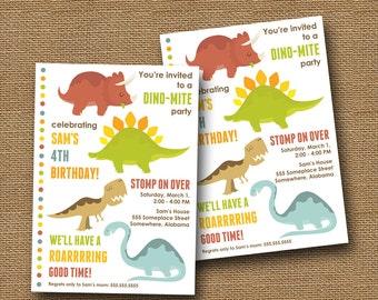 Dinosaur Birthday Invitation   Cute Dinosaur Invitation   Boys Birthday Party   Toddler, Preschool Dino Party   T-Rex Invite   DIY PRINTABLE