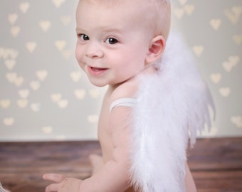 Angel Mine Infant Boy/Girl Wings n Halo Photo Prop....Small Infant, Valentine's Day, Cupid, Partywear