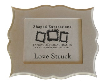 5x7 curvy picture frame - Love Struck unfinished