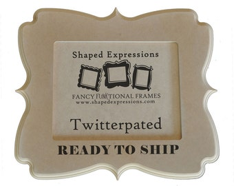 READY TO SHIP - 8x10 whimsical picture frame - Twitterpated unfinished