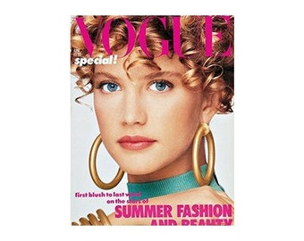 Vogue Magazine - UK June 1986 Vintage edition with cover photograph by Patrick Demarchelier