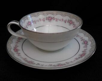 Flat Bottom Cup & Saucer Noritake Glenwood 5770 181393 Discontinued