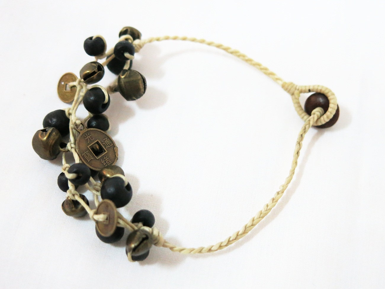sweet small brass bell anklet ankle leg jewelry by susysshop