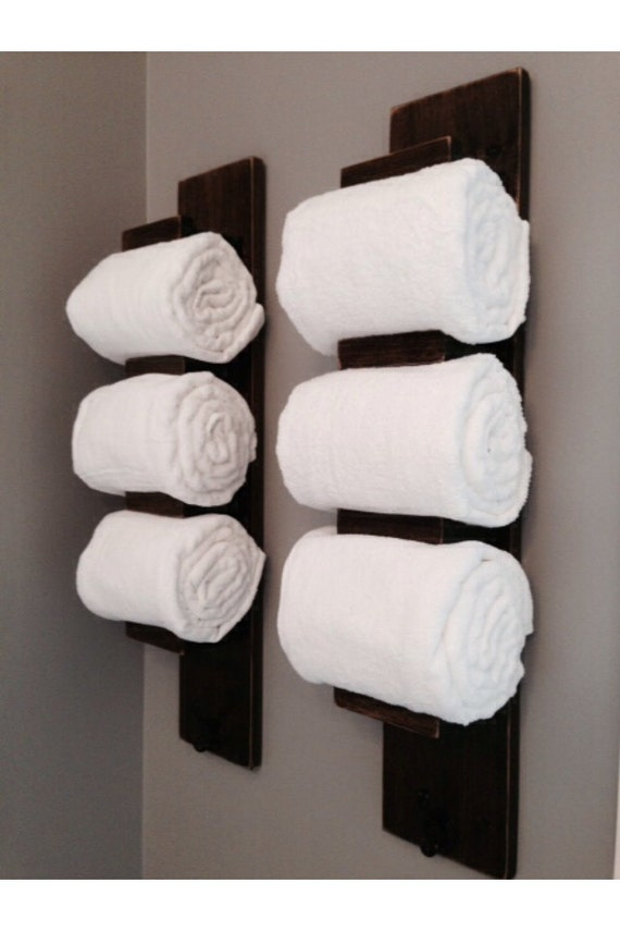 Wooden Bathroom Towel Rack