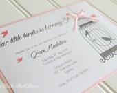 Handmade Birthday Bird Cage Invitation for a Girl
