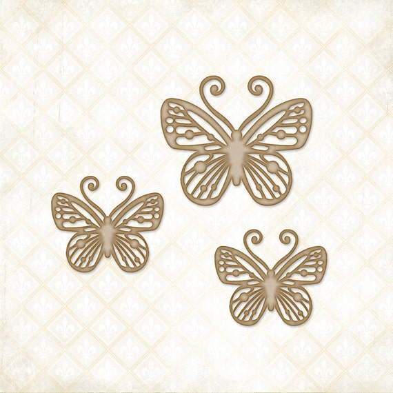 Blue Fern Studios Chipboard - Magical Monarchs