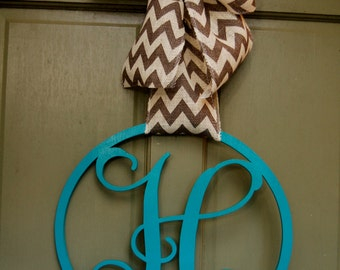 Personalized Single Letter Monogram Door Hanger - Hanging Monogram Initials -  Wall Decor - Graduation Gift - Dorm Decor - Wedding Gift