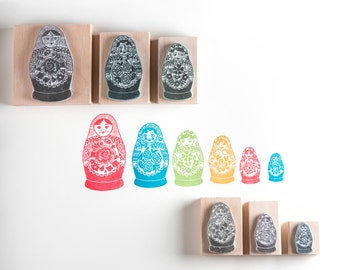 Russian Doll Rubber Stamps