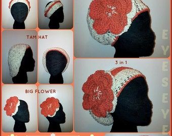 The SHO' NUFF Crochet Headpiece designed for Locs, Braids, Twists, or Afros