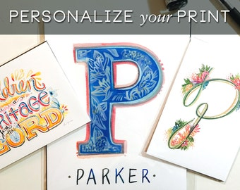 ADD ON - Personalize Your Print with Handlettering or Type