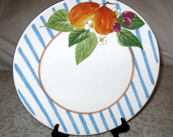 Platter Mikasa China Sunshine Harvest DW104 Pattern Fashion Plate Meat Platter Japan for Serving or Display