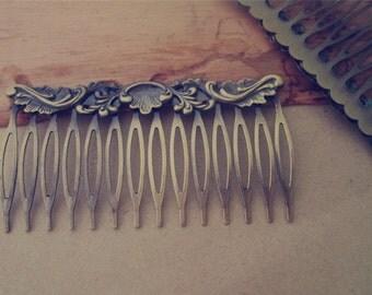4Pcs 40mmx75mm (14teeth) Antique Bronze Hair Combs