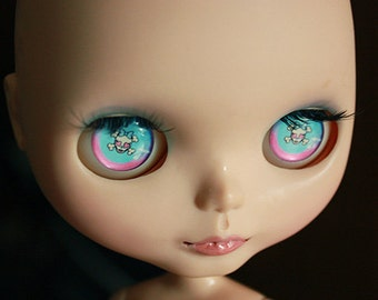 custom blythe eye chips skull 4 type