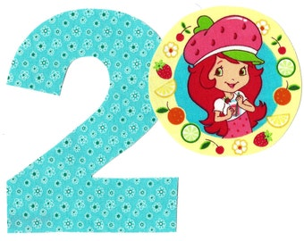 DIY Strawberry Shortcake applique and pick any number iron on applique