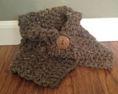 READY TO SHIP-- 3T-4T Barley Brown Toddler Cowl