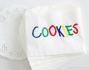 50 Cookie Bags White Glassine Paper Bags 5x4 inch