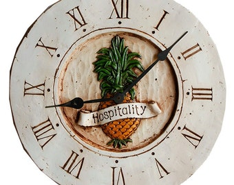 Pineapple Decor Wall Clock
