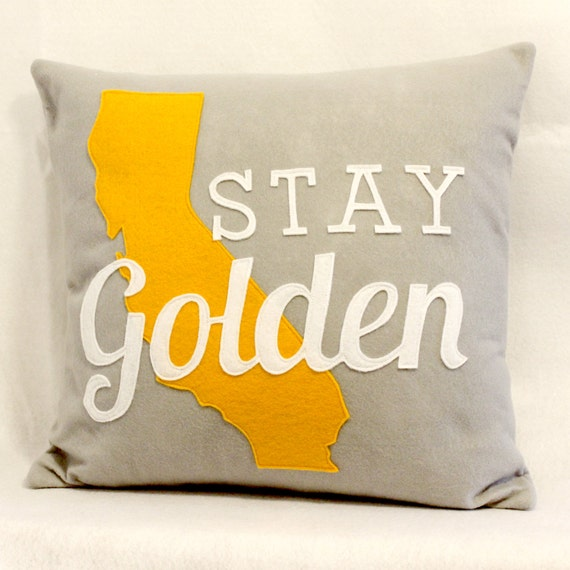 RESERVED Stay Golden California Eco Felt Pillow