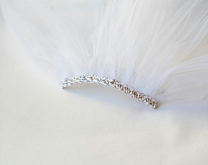 ADD Swarovski Crystals to head comb. (Veil sold separately), decorative comb, rhinestones, head accessories, bling, sparkling comb,