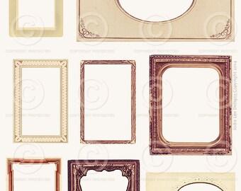 Printable Vintage Frames JPG file to download instantly by Jodie Lee