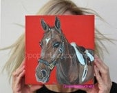 Horse painting horse portrait custom painting pop art pet portraits custom horse painting original horse painting horse art artwork