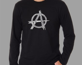 Men's Long Sleeve T-shirt - Created using a list of some of the best and most popular Punk Songs of All Time