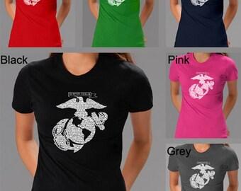 Women's T-shirt - Created using Lyrics To The Marines Hymn