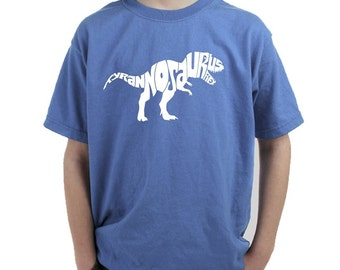 Boy's T-shirt -Tyrannosaurus Rex - Created using popular Dinosaur Name