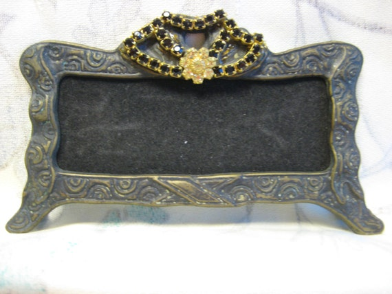 Blinged Out Mini Italian Vintage Look Metal Frames From