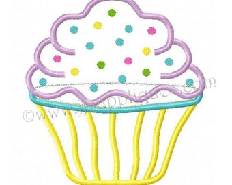 Instant Download - Cupcake Designs Birthday Designs Embroidery Applique - Cupcake Design 4x4, 5x7, 6x10 hoops
