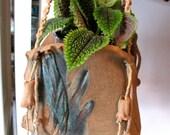Hanging planter, macrame hangers, handmade planter