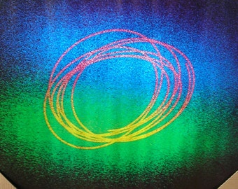 """Vintage 1971 Abstract Poster """"1120 Vortex"""" Laser Light Photo by Scandecor Photo by Svedberg"""