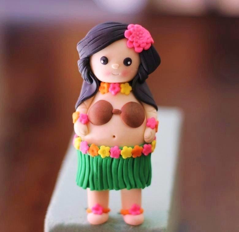 Hula Girl Doll Cake Topper