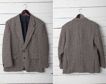 1970's Vintage Tweed Wool Blazer Jacket by Harris Tweed / Men Jacket / Size M/L