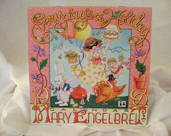 """Mary Engelbreit 1998 Wall Calendar """"Every Day's a Holiday"""""""