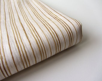 golden white stripes cotton silk India fabric nr 422 fat quarter
