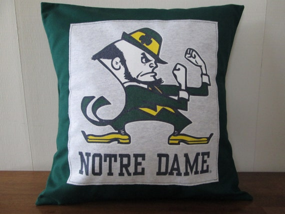 Notre Dame Pillow College Decor Fighting Irish Green