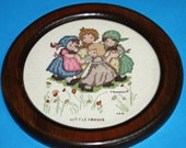 Hummel, Counted Cross Stitch, Framed Picture, Ring Around the Roses, Little Friends.