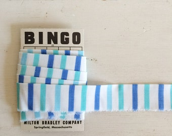 Handmade Vintage Continuous Quilt Binding Blue Stripes (4 Yards)