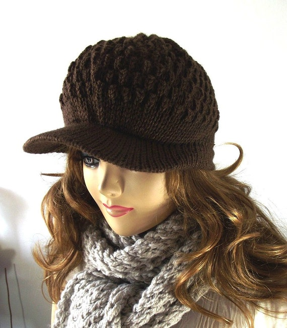 Newsboy Hat Knitting Pattern : KNITTING Newsboy HAT PATTERN Hat Knitted Winter by LiliaCraftParty