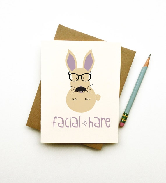 facial-hare mustache rabbit doodle card hipster totem rabbit with glasses