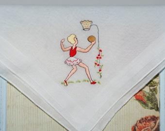 Vintage Embroidered Handkerchief
