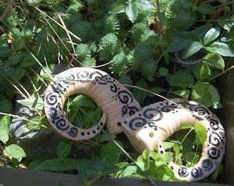 scrolled imitation bone succubus demon HORNS  Halloween ren fair cos play larp rave