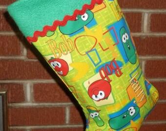 Veggie Tales Bob Larry Junior Christmas Stocking  FREE US Shipping