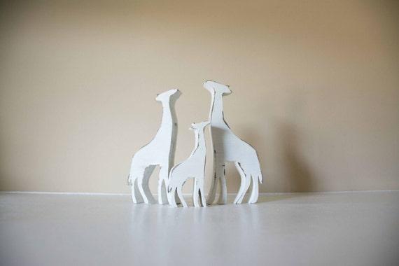 Giraffes, Baby Giraffe, Wood Animal Nursery Decor