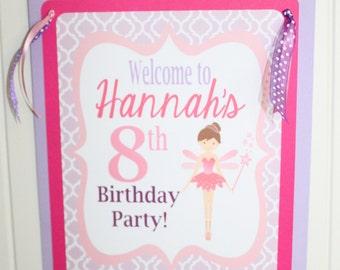 LITTLE  FAIRY Happy Birthday or Baby Shower Door or Welcome Sign