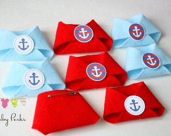 Dirty Diaper Game , Nautical Baby Shower , Nautical Decorations , Red Navy Baby  Shower ,
