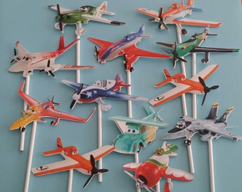 12 Planes cupcake toppers