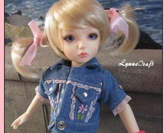 Denim Jean Jacket  For Your Iplehouse BID Girls, and Other Similar Sized Dolls. . OOAK